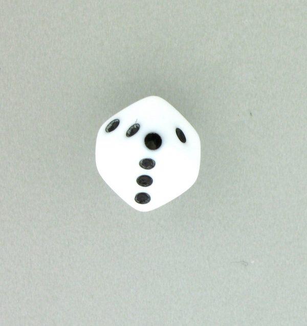 9013 - 7.5x7.5mm Medium Dice Bead - White