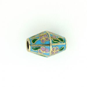 8651C - 17x12mm Oval Cloisonne Bead - Turquoise