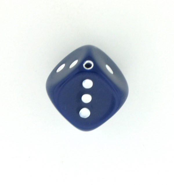 9014 - 10x10mm Large Dice Bead - Navy Blue