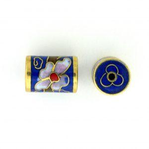 8654C - 13x10mm Fancy Cloisonne Bead - Blue