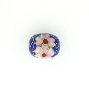 8655C - 11x14mm Oval Cloisonne Bead - Blue
