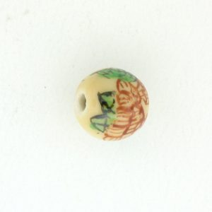 8810P - 10mm Round Porcelain Bead