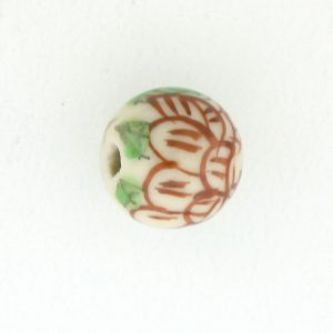 8812P - 12mm Round Porcelain Bead