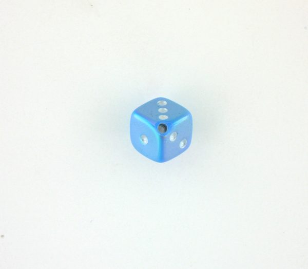 9013AB - 7.5x7.5mm Medium Dice Bead - Light Blue