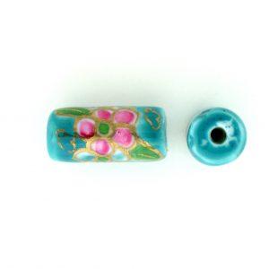 9038P - 12x7mm Tube Porcelain Bead - Turquoise