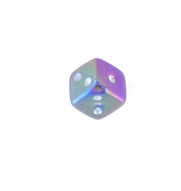 9013AB - 7.5x7.5mm Medium Dice Bead - Purple