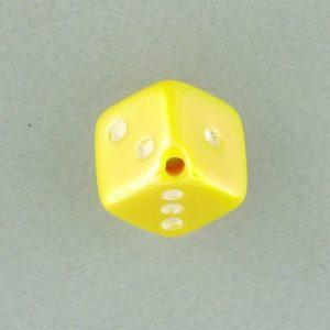 9013AB - 7.5x7.5mm Medium Dice Bead - Yellow