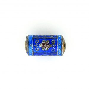 9040M - 19x9mm Fancy Metal Bead - Blue
