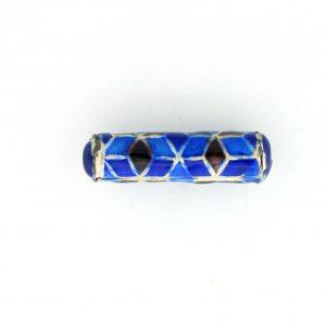 9042M - 5x21mm Fancy Metal Bead - Blue