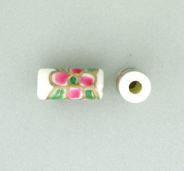 9039P - 5x11mm Tube Porcelain Bead - White