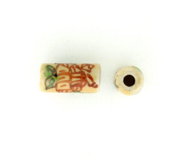 9039P - 5x11mm Tube Porcelain Bead - Beige
