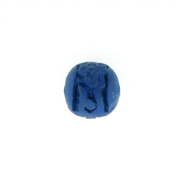 9059 - 10mm Round Cinnabar Bead - Blue