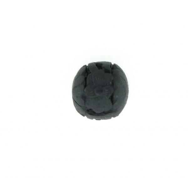 9060 - 12mm Round Cinnabar Bead - Black