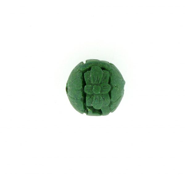 9060 - 12mm Round Cinnabar Bead - Green