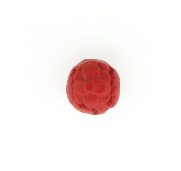 9060 - 12mm Round Cinnabar Bead - Red