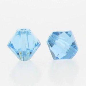 5301/5328 - 3mm Swarovski Bicone Crystal Bead - Aquamarine