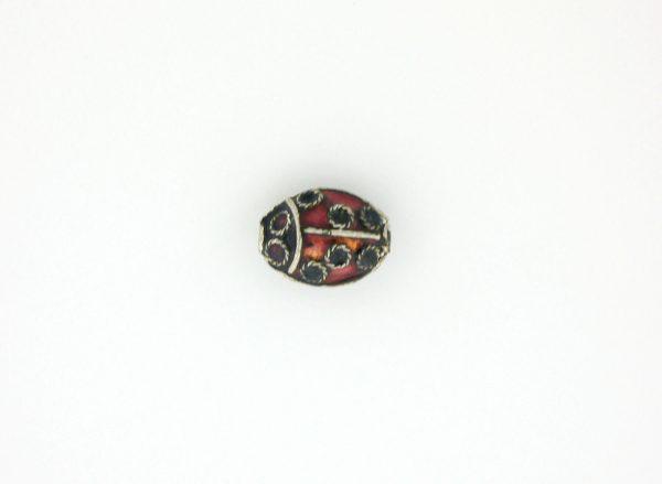 9071 - 7x10mm Lady Bug Shape Cloisonne Bead