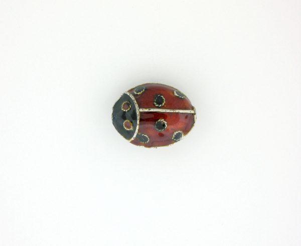 9071M - 12x15mm Lady Bug Shape Cloisonne Bead
