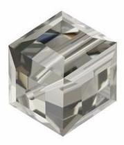 5601 - 8mm Swarovski Cube Crystal - Black Diamond