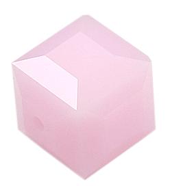 5601 - 8mm Swarovski Cube Crystal - Rose Alabaster