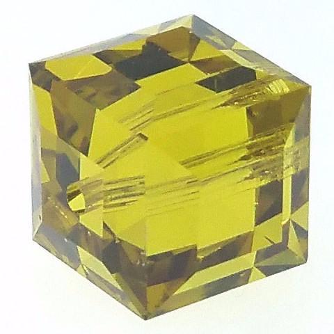 5601 - 8mm Swarovski Cube Crystal - Lime
