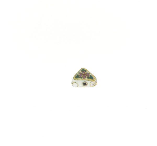 9085C - 4x11mm Fancy Cloisonne Bead - White