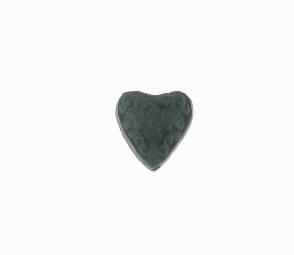 9063 - 15mm Cinnabar Heart - Black