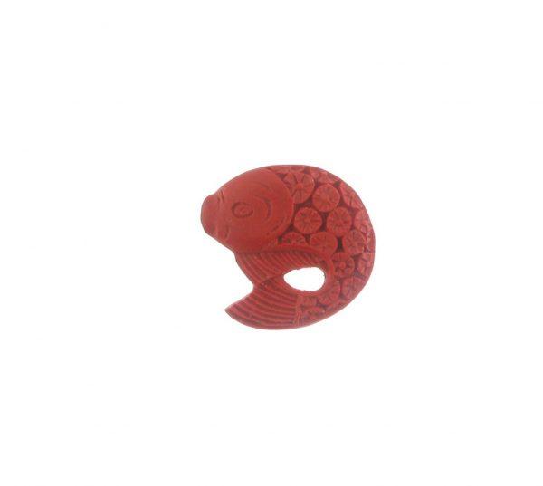 9069 - 29mm Cinnabar Fish - Red