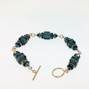 12049 - 14K Gold filled Bracelet With Swarovski Crystal