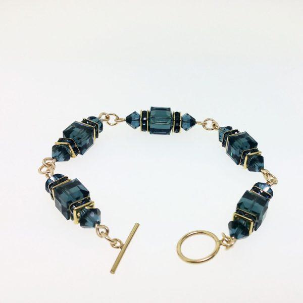 12049 - 14K Gold filled Bracelet With Swarovski Crystal
