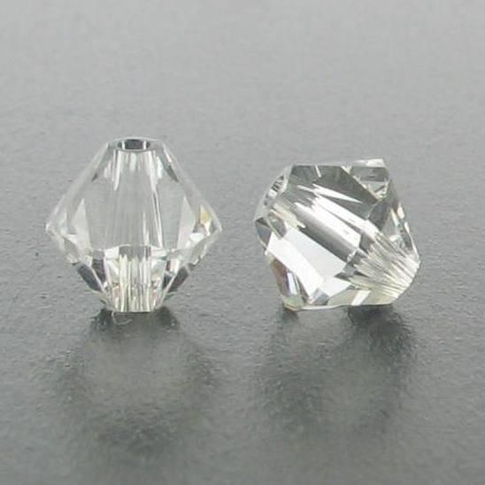 5301/5328 - 4mm Swarovski Bicone Bead - Crystal Clear