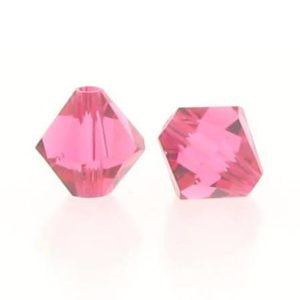 5301/5328 - 4mm Swarovski Bicone Crystal Bead - Indian Pink