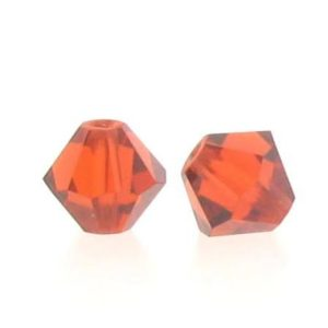5301/5328 - 4mm Swarovski Bicone Crystal Bead - Indian Red