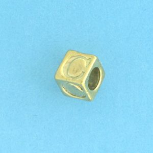 9800 - 5.5mm Gold Plated Alphabet Beads C