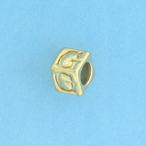 9800 - 5.5mm Gold Plated Alphabet Beads G