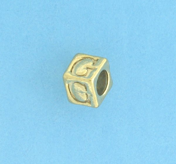 9800 - 5.5mm Gold Plated Alphabet Beads G