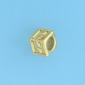 9800 - 5.5mm Gold Plated Alphabet Beads H