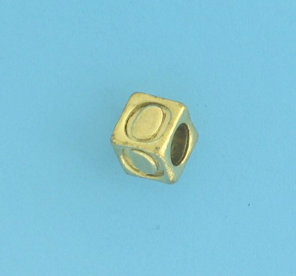 9800 - 5.5mm Gold Plated Alphabet Beads M