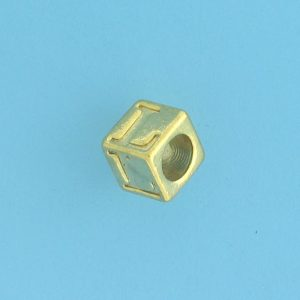 9800 - 5.5mm Gold Plated Alphabet Beads L