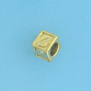 9800 - 5.5mm Gold Plated Alphabet Beads Z