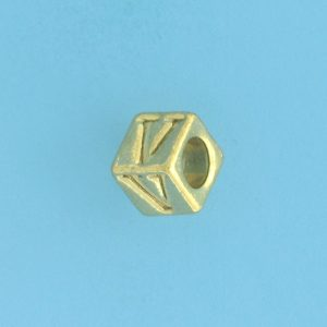 9800 - 5.5mm Gold Plated Alphabet Beads V