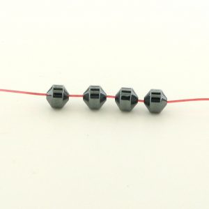 9206 - 4.5mm Hexagon Shape Hematite Beads - 16'' Strand