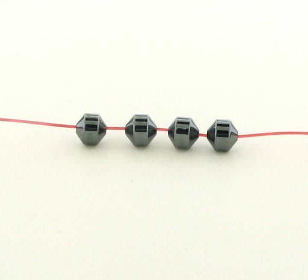 9206 - 4.5mm Hexagon Shape Hematite Beads - 16'' Strand