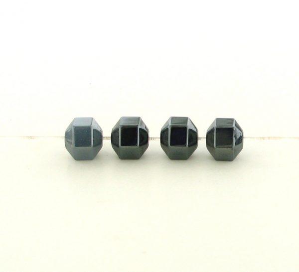 9207 - 7mm Hexagon Shape Hematite Beads - 16'' Strand