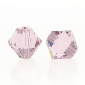 5301/5328 - 4mm Swarovski Bicone Crystal Bead - Light Amethyst
