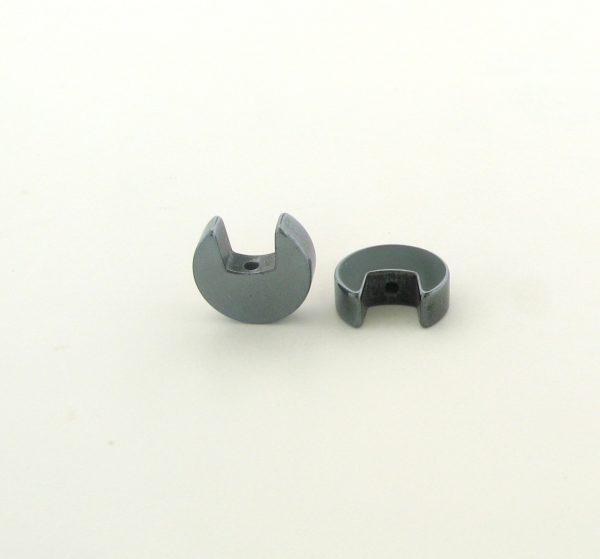 9219 - 9mm 'C' Shape Hematite Beads - 16'' Strand