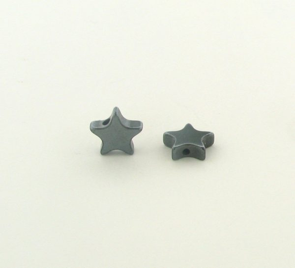 9221 - 6mm  Star Shape Hematite Beads - 16'' Strand