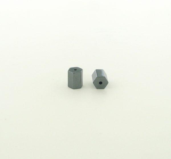9224 - 5x6mm Hexagon Tube Shape Hematite Beads - 16'' Strand