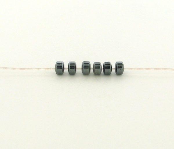 9225 - 2x3mm Tiny Rondelles Shape Hematite Beads - 16'' Strand