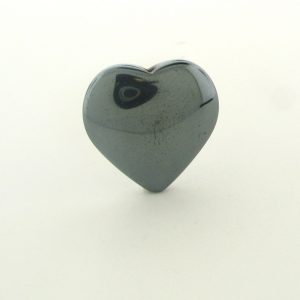 9228 - 20mm  Heart Shape Hematite Beads - 16'' Strand